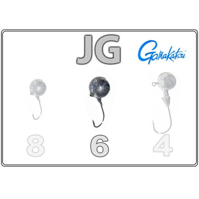 Džīgu galvas JG 6 ar Gamakatsu āķi