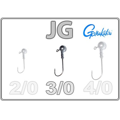 Džīgu galvas JG 3/0 ar Gamakatsu āķi
