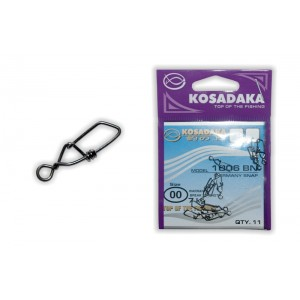 Застёжка KOSADAKA 1006 (00, тест 7 кг, в уп.: 11 шт.)