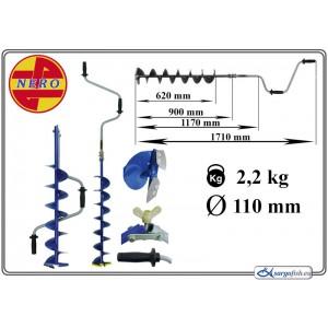 Бур NERO 110 (диам.: 110 мм, длина до загиба: 1.17м, вес: 2.2кг)