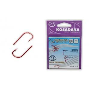 Крючки KOSADAKA Hosi 3063 (Nr.: 14, цв.: Red, в уп. 12 шт.)