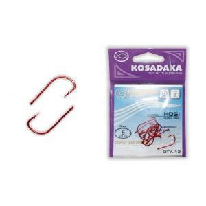 Крючки KOSADAKA Hosi 3063 (Nr.: 06, цв.: Red, в уп. 12 шт.)