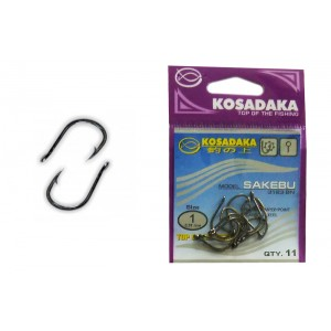 Крючки KOSADAKA Sakebu 3123 (Nr.: 01, цв.: BN, в уп. 11 шт.)