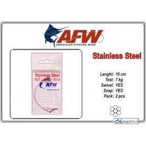 Pavadiņa AFW Stainless STEEL 1x7 (10.0 - 7.0)
