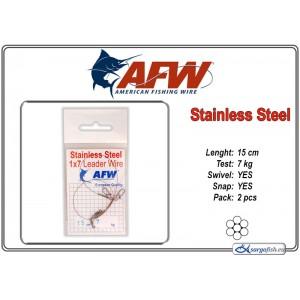 Pavadiņa AFW Stainless STEEL 1x7 (15.0 - 7.0)