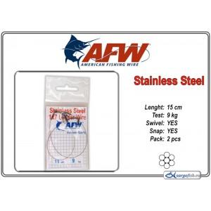 Pavadiņa AFW Stainless STEEL 1x7 (15.0 - 9.0)