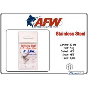 Pavadiņa AFW Stainless STEEL 1x7 (20.0 - 7.0)