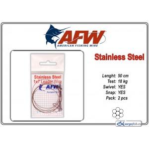 Pavadiņa AFW Stainless STEEL 1x7 (50.0 - 18.0)