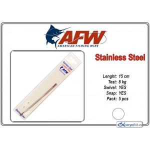 Pavadiņa AFW Stainless STRING (15.0 - 8.0)