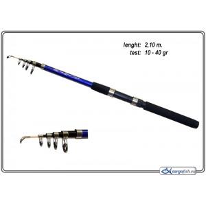 Makšķerkāts FISH-2-FISH RAPID Short Blue - 210, 10-40