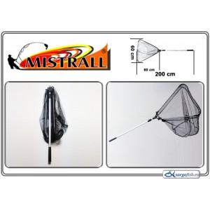 Подсачек MISTRALL (длина: 2.00м, размер: 60х60см, секций: 2)