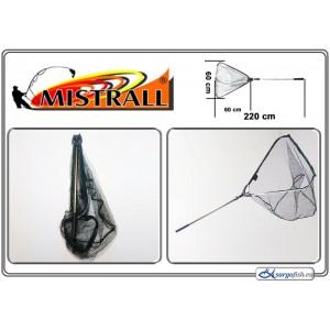 Подсачек MISTRALL (длина: 2.20м, размер: 60х60см, секций: 2)