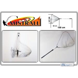 Подсачек MISTRALL (длина: 1.50м, размер: 60х60см, секций: 2)