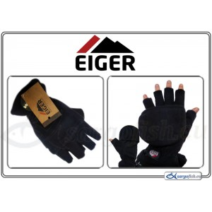Перчатки EIGER winter (размер: L, цвет: черный, материал: флис)