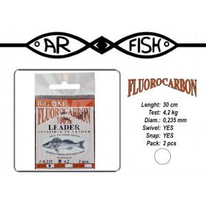 Поводок ARF Big One Fluorocarbon (длина.: 30 см, тест: 4.2 кг, диам.: 0.235мм, уп.: 2 шт)