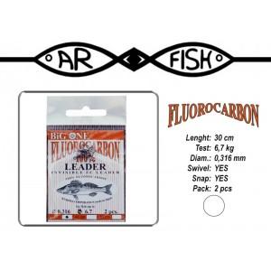 Поводок ARF Big One Fluorocarbon (длина.: 30 см, тест: 6.7 кг, диам.: 0.316мм, уп.: 2 шт)