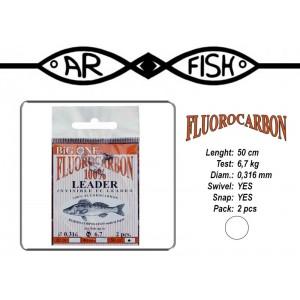 Поводок ARF Big One Fluorocarbon (длина.: 50 см, тест: 6.7 кг, диам.: 0.316мм, уп.: 2 шт)