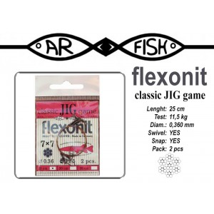 Pavadiņa AR FISH Flexonite CLASSIC JIG game 7x7 (0.360 - 25)