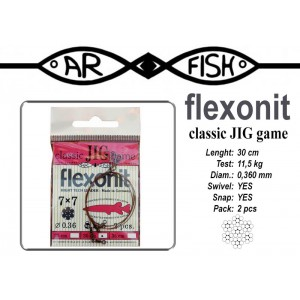 Pavadiņa AR FISH Flexonite CLASSIC JIG game 7x7 (0.360 - 30)