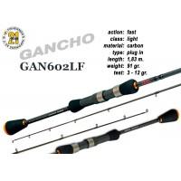 Спиннинг Pontoon21 GANCHO 602 LF (Секций:2, длина:1.83м, тест:3.0 - 12.0 гр.)