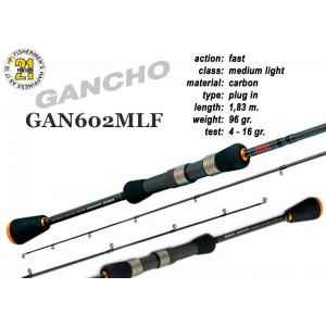 Спиннинг Pontoon21 GANCHO 602 MLF (Секций:2, длина:1.83м, тест:4.0 - 16.0 гр.)