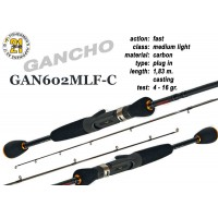 Спиннинг Pontoon21 GANCHO 602 MLF-C (Секций:2, длина:1.83м, тест:4.0 - 16.0 гр.)
