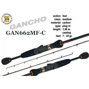 Спиннинг Pontoon21 GANCHO 662 MF-C (Секций:2, длина:1.98м, тест:7.0 - 25.0 гр.)