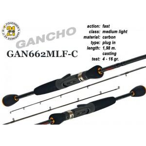 Спиннинг Pontoon21 GANCHO 662 MLF-C (Секций:2, длина:1.98м, тест:4.0 - 16.0 гр.)