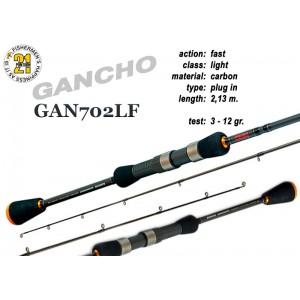 Спиннинг Pontoon21 GANCHO 702 LF (Секций:2, длина:2.13м, тест:3.0 - 12.0 гр.)