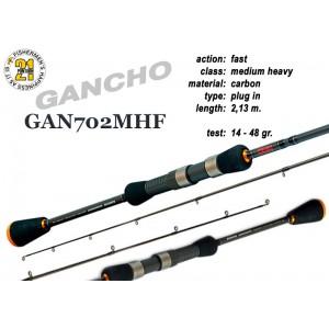 Спиннинг Pontoon21 GANCHO 702 MHF (Секций:2, длина:2.13м, тест:14.0 - 48.0 гр.)