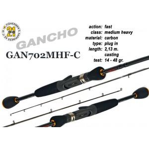Спиннинг Pontoon21 GANCHO 702 MHF-C (Секций:2, длина:2.13м, тест:14.0 - 48.0 гр.)