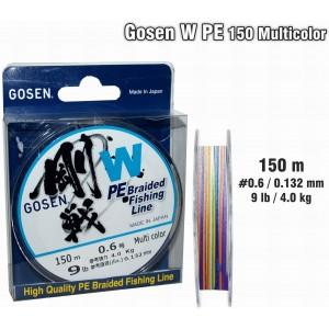 Леска плетеная Gosen W PE (#0.6 / 0.132мм. / 150м. тест:4.00 кг.. цвет: multicolor)