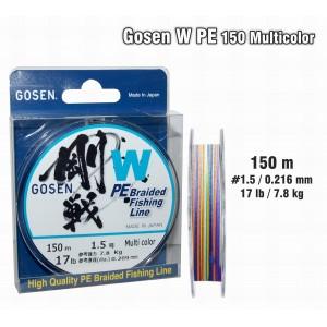 Леска плетеная Gosen W PE (#1.5 / 0.216мм. / 150м. тест:7.80 кг.. цвет: multicolor)