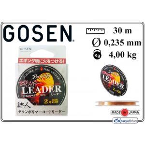 Леска GOSEN Aoriika Egi Fire Leader 023 (#2.00 / 0.235мм. / 30м. тест: 4.00кг., материал: FLUORO CARBON)