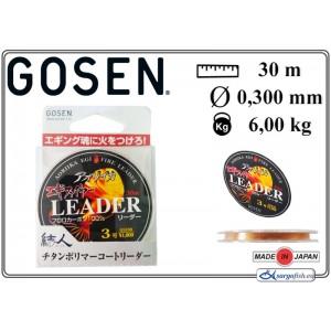 Леска GOSEN Aoriika Egi Fire Leader 028 (#3.00 / 0.285мм. / 30м. тест: 6.00кг., материал: FLUORO CARBON)
