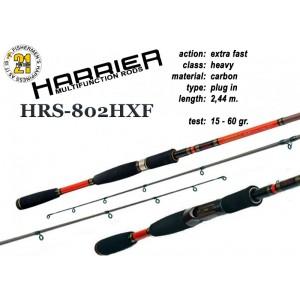 Спиннинг Pontoon21 HARRIER 802 HXF (Секций:2, длина:2.44м, тест:15.0 - 60.0 гр.)