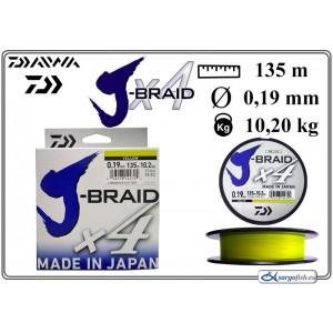 Плетеная леска DAIWA «J-BRAID» x4 yel - 0.19