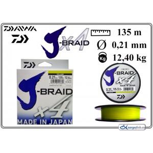 Плетеная леска DAIWA «J-BRAID» x4 yel - 0.21