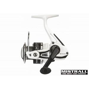 Катушка MISTRALL Exor 3000 FD (подшип.:7, ёмкость шпули:0.250мм./ 170м., передача:5.2:1, вес:235г.) с запасной шпулей.