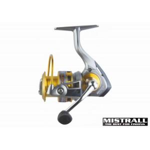 Катушка MISTRALL Scot 3000 FD (подшип.:7, ёмкость шпули:0.250мм./ 170м., передача:5.2:1, вес:330г.) с запасной шпулей.