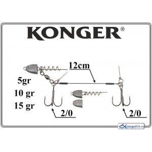 Āķi KONGER Double Stinger 12 2/0 - 024