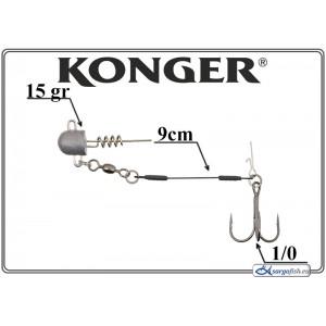 Āķi KONGER Single Stinger 9 1/0 - 029