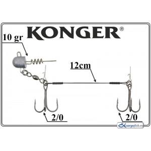 Āķi KONGER Double Stinger 12 1/0 - 031