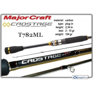 Makšķerkāts MAJOR CRAFT Crostage T782ML - 234, 2-15