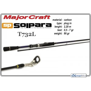 Makšķerkāts MAJOR CRAFT SolPARA T732L - 220, 0.5-7