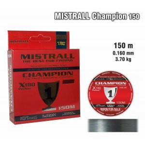Леска MISTRALL Champion 016 (0.160мм. / 150м. тест: 3.70кг.)