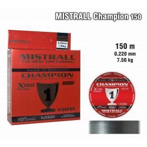 Леска MISTRALL Champion 022 (0.220мм. / 150м. тест: 7.50кг.)