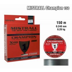 Леска MISTRALL Champion 024 (0.240мм. / 150м. тест: 8.20кг.)