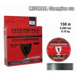 Леска MISTRALL Champion 026 (0.260мм. / 150м. тест: 9.10кг.)
