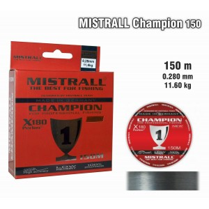 Леска MISTRALL Champion 028 (0.280мм. / 150м. тест: 11.60кг.)